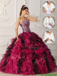 Latest 2016 Multi Color Quinceanera Dresses with Ruffles