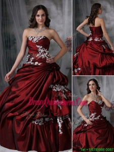 Classic Ball Gown Strapless Appliques Quinceanera Dresses