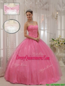 Gorgeous Sweetheart Beading Quinceanera Dresses in Pink