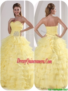 Classic Ball Gown Quinceaners Dresses with Appliques