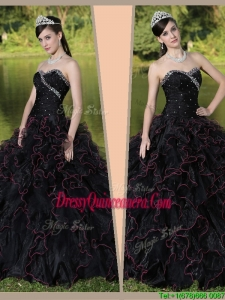ClassicSweetheart Quinceanera Dresses with Ruffles Layered and Beading