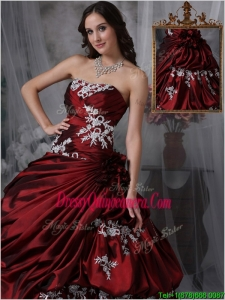 Designer Ball Gown Strapless Quinceanera Dresses with Appliques