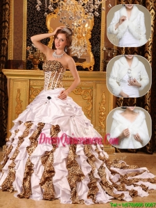 Exclusive White Quinceanera Dresses with Beading and Ruffles