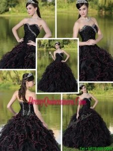 Fabulous Beading Sweetheart Quinceanera Dresses with Ruffles Layered