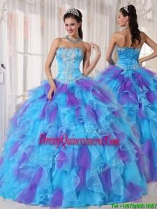 Pretty Ball Gown Beading and Appliques Sweet 15 Dresses