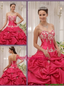 2016 Formal Sweetheart Appliques and Pick Ups Quinceanera Dresses