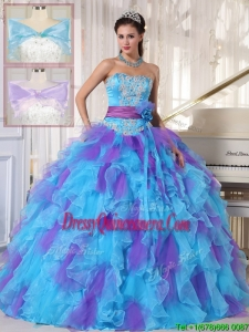 Classical Strapless Beading and Appliques Quinceanera Dresses