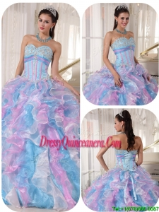 Pretty Sweetheart Ruffles and Appliques Quinceanera Dresses