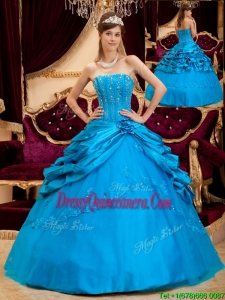 Romantic Ball Gown Strapless Floor Length Quinceanera Dresses