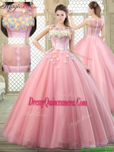 New Style Scoop Quinceanera Dresses with Zipper Up