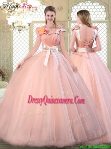 Simple Asymmetrical Quinceanera Dresses with Bowknot