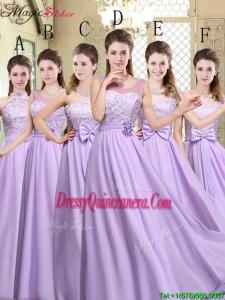 Hot Sale Empire Lavender 2016 Dama Dresses