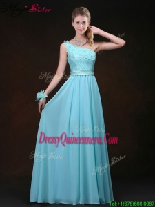Beautiful Empire One Shoulder Dama Dresses with Appliques