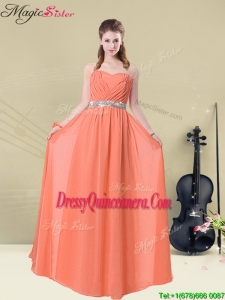 Pretty Empire Sweetheart Dama Dresses For Quinceanera with Ruching and Belt