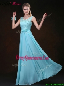 Sweet Scoop Lace Dama Dresses with Lace for 2016