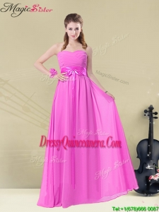 Popular Empire Sweetheart Dama Dresses for Spring