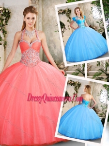 2016 Latest Ball Gown Sweetheart Beading Quinceanera Dresses