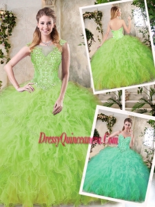 Luxurious Sweetheart Sweet 16 Dresses with Appliques and Ruffles