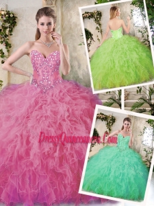 Hot Sale Appliques and Ruffles Quinceanera Dresses with Sweetheart