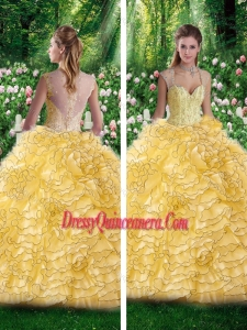 2016 Beautiful Straps Beading Quinceanera Dresses for 16 Brithday Party