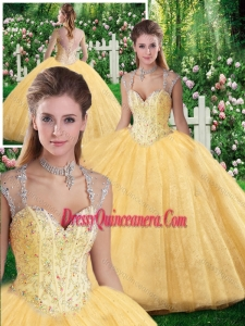Cute Ball Gown Beading and Appliques Sweet 16 Dresses