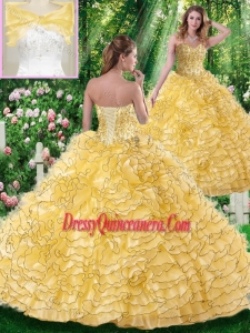 Lovely Ball Gown Sweetheart Beading Quinceanera Dresses