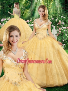 Luxurious Ball Gown Straps Quinceanera Dresses with Beading