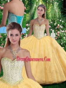 Luxurious Ball Gown Sweetheart Beading Quinceanera Gowns for Fall