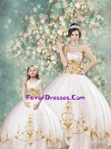 Fashionable Ball Gown Strapless Princesita With Quinceanera Dresses with Appliques for 2016