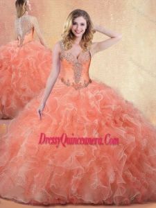 Classic Straps Ball Gown Quinceanera Dresses with Ruffles and Appliques