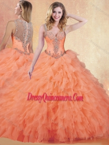 Gorgeous Ball Gown Straps Quinceanera Dresses with Ruffles and Appliques