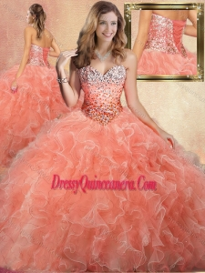 Pretty Sweetheart Beading Quinceanera Gowns with Ruffles
