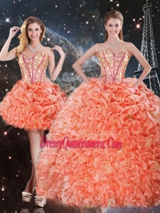 Pretty Detachable Sweetheart Beading and Ruffles Quinceanera Skirts