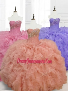 Low Price Ball Gown Custom Made Quinceanera Dresses with Beading