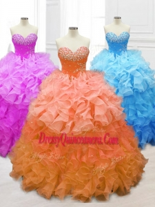 Sweetheart Custom Made Quinceanera Dresses with Beading and Ruffles