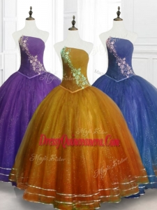 Lovely Ball Gown Strapless Custom Made Quinceanera Dresses with Beading