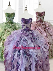 Luxurious Custom Made Quinceanera Dresses with Ruffles and Pattern