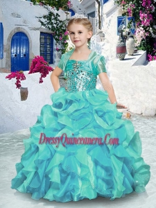 2016 Affordable Ball Gown Little Girls Pageant Dresses with Beading and Ruffles