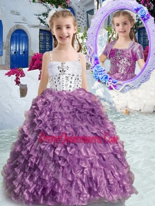 Affordable New Arrivals Spaghetti Straps Beading and Ruffles Little Girl Pageant Dress