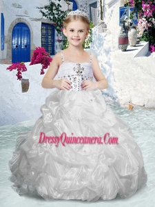2016 Beautiful Spaghetti Straps Mini Quinceanera Dresses with Beading and Bubles