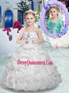 2016 Fashionable Spaghetti Straps Mini Quinceanera Dresses with Beading and Ruffles