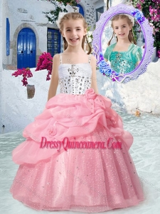 2016 Perfect Spaghetti Straps Mini Quinceanera Dresses with Beading and Bubles