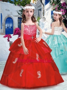 Luxurious Spaghetti Straps Mini Quinceanera Dresses with Appliques and Beading