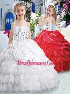 Hot Sale Spaghetti Straps Mini Quinceanera Dresses with Ruffled Layers