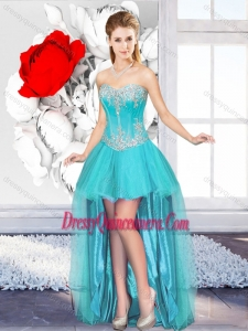 2016 A Line Sweetheart Beautiful Dama Gowns with High Low