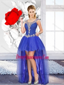 Beautiful High Low Dama Dresses with Beading for Graduation