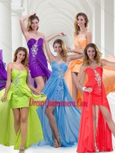 Beautiful Empire Sweetheart Long Dama Dress in Chiffon