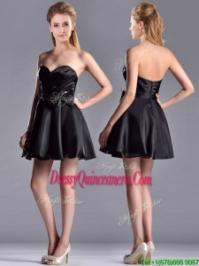 Exquisite Bowknot Organza Short DamaDress with Zipper Up