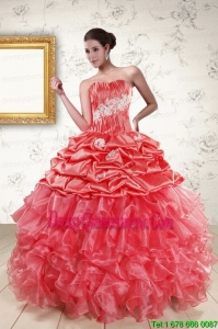 Exclusive Sweetheart Beading Quinceanera Dresses in Watermelon