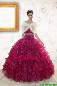 2015 Luxurious Sweetheart Quinceanera Gown with Beading and Ruffles